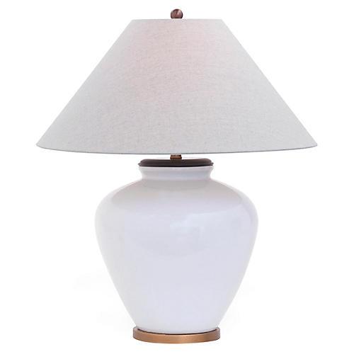 Napa Table Lamp, White/Brass
