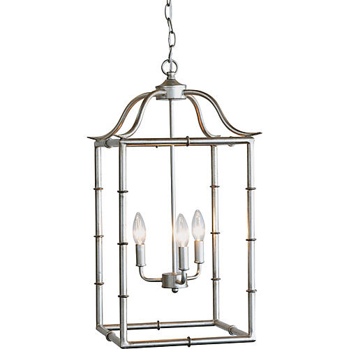 Doheny 3-Light Pendant, Silver Leaf