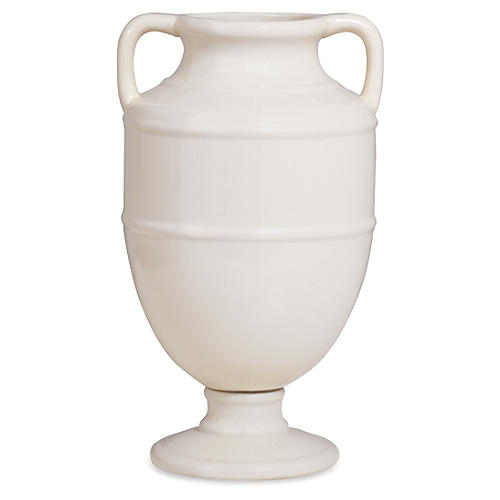 "18"" Lantana Vase, Cream/Ivory"