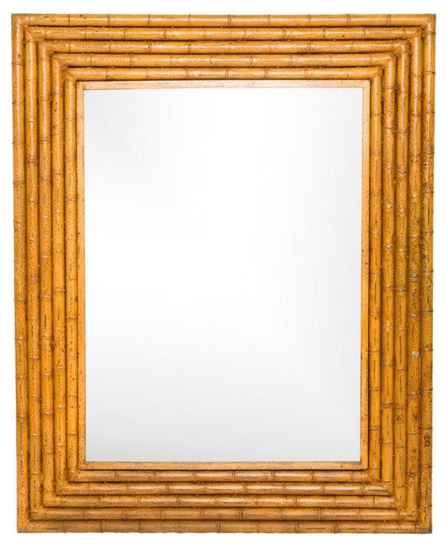 Large Bamboo-Style Iron Mirror