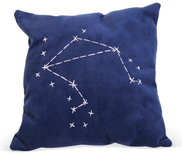 Blue Star Zodiac Signs Pillow- Libra