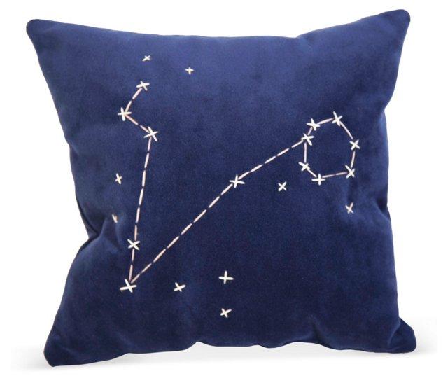 Blue Star Zodiac Signs Pillow- Pisces