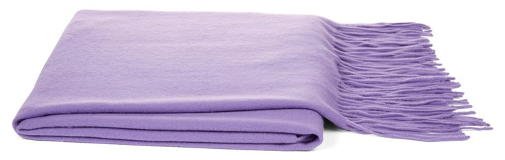Cashmere Wool Throw, Lilac