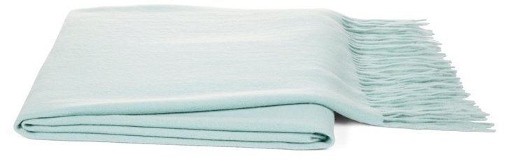 Cashmere Wool Throw, Teal