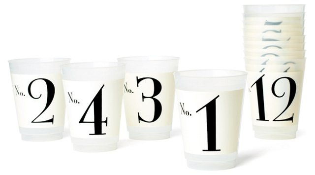 S/12 Asst. Number 1-12 Plastic Cups