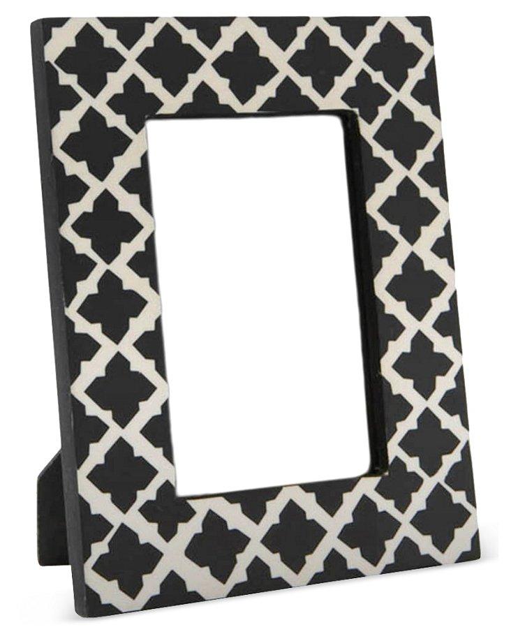 Moorish Frame, 4x6, Black/White