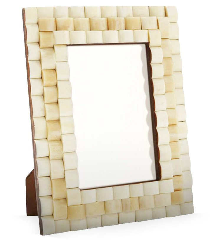 Thick Bone Frame, 4x6, Cream