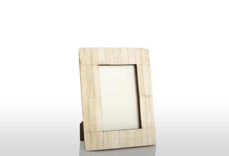 Beveled Bone Frame, 4x6, Natural