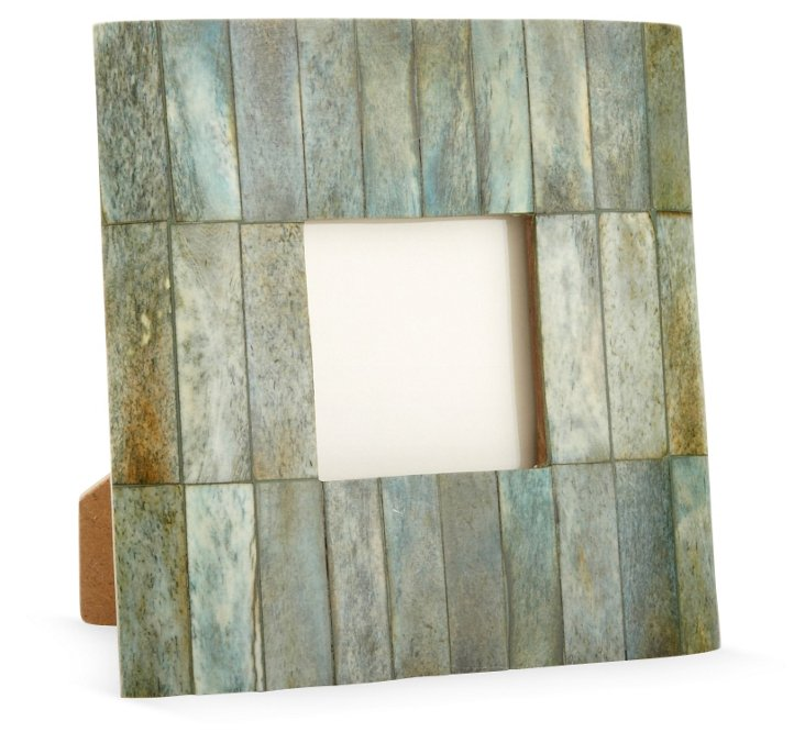 Beveled Bone Frame, 3x3, Jade