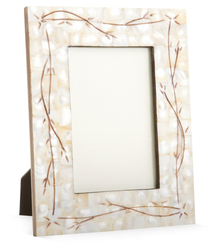 Engraved Mother-of-Pearl Frame, 4x6