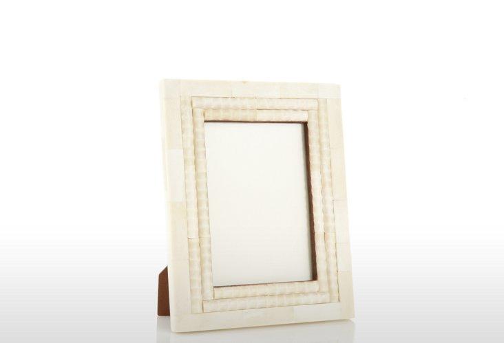 Scrolled Bone Frame, 5x7, Cream