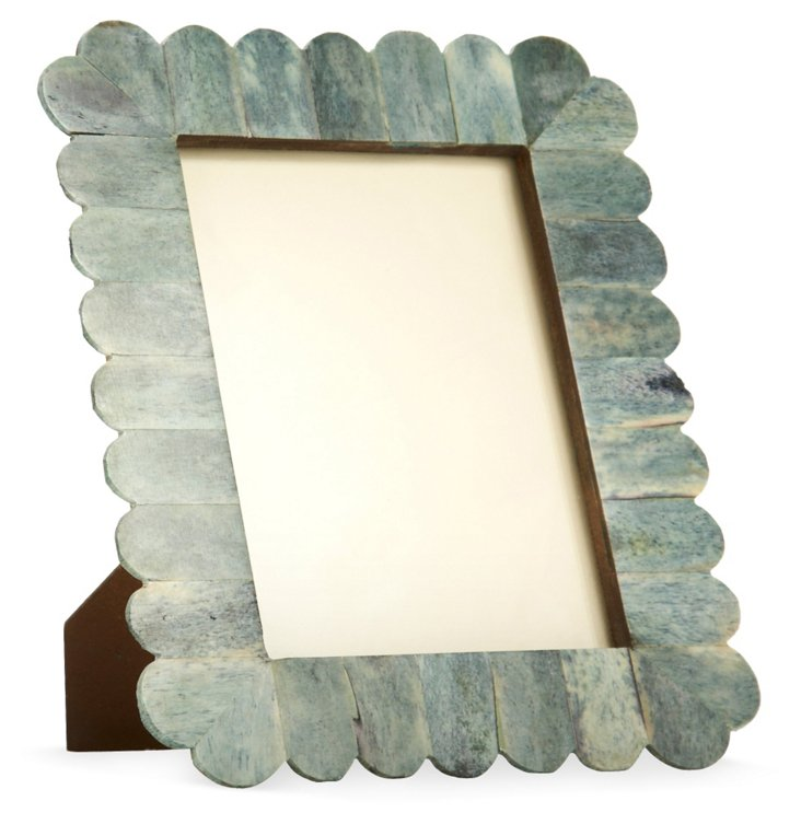 Arch Scalloped Bone Frame, 5x7, Jade