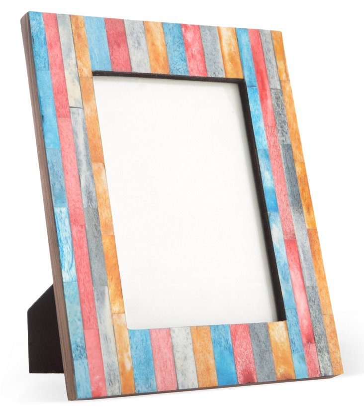 Striped Bone Frame, 5x7, Multicolor
