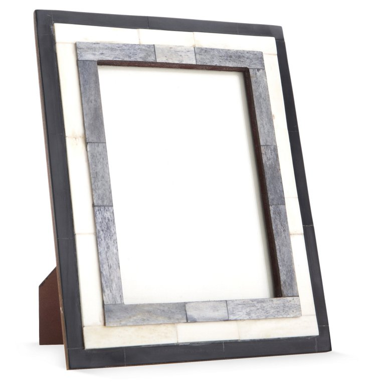 Step Bone Frame, 5x7, Gray/White