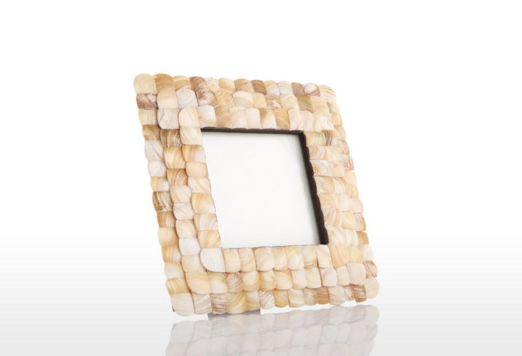 Mother-of-Pearl Square Frame, 4x4