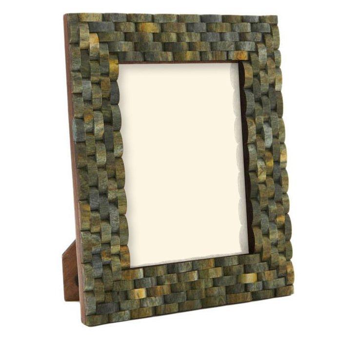 Looped Bone Frame,  4x6, Jade
