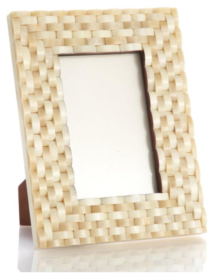 Looped Bone Frame, 4x6, Cream