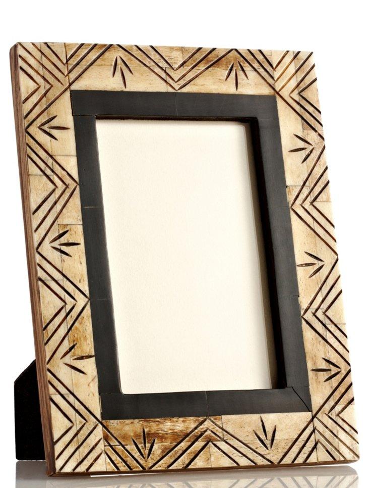 Carved Antiqued Bordered Frame, 4x6