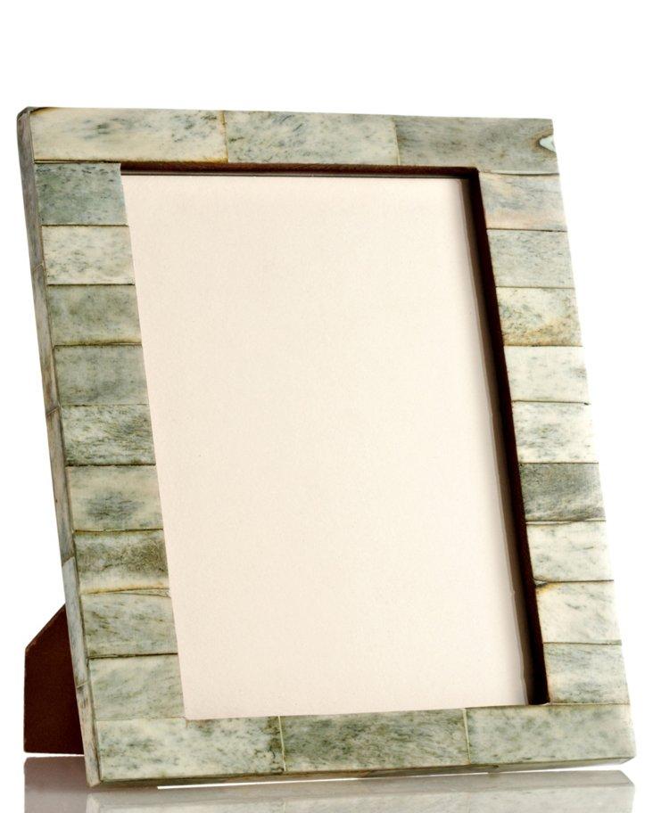 Bone Uneven Frame, 5x7, Jade
