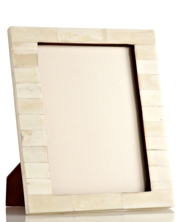 Uneven Bone Frame, 5x7, White