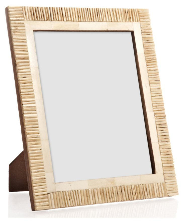 Matchstick Border Bone Frame, 8x10, Tan