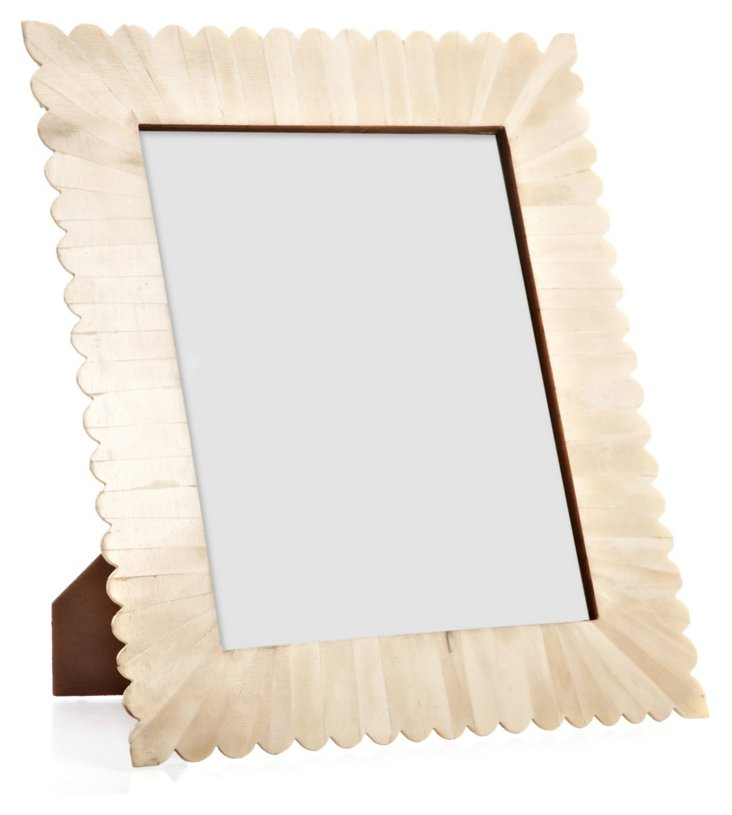 Scalloped Bone Burst Frame, 8x10, White
