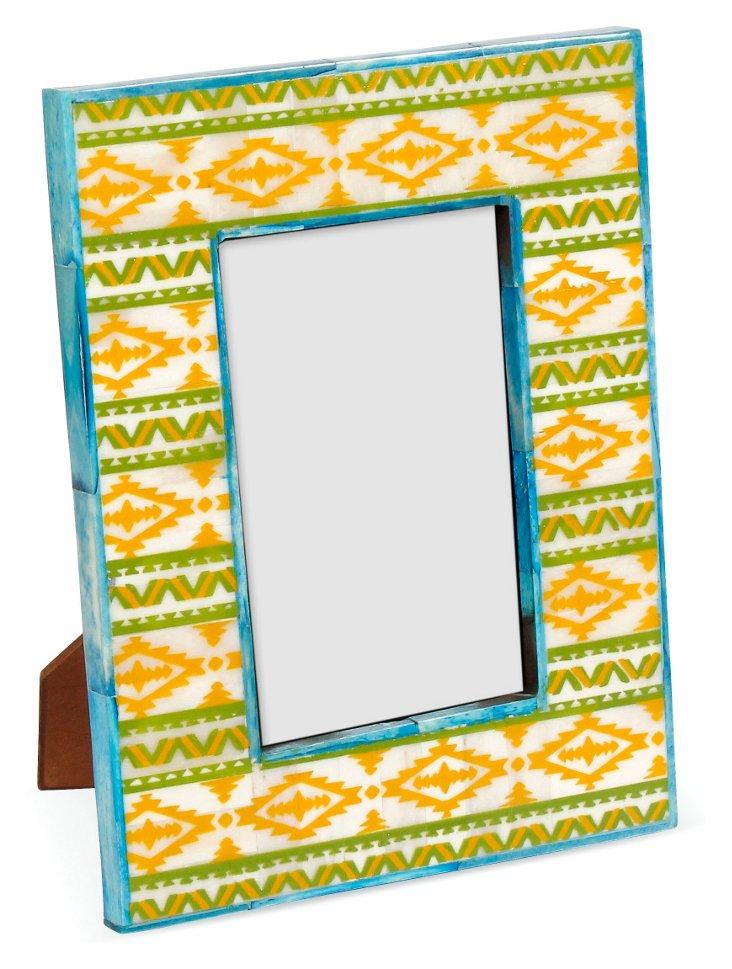 Aztecan Print Bone 4x6 Frame