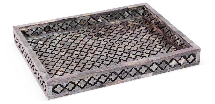 Large Alhambra Tray,  Gray