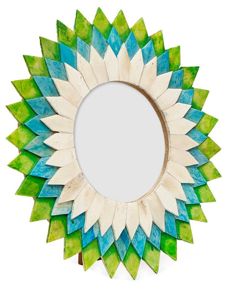 Spiked Frame, 4x4, Blue/Green