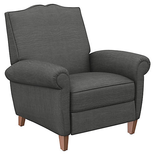 Hartford Club Recliner, Charcoal Linen