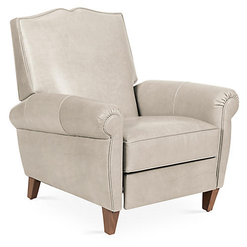 Hartford Club Recliner, Oyster Leather