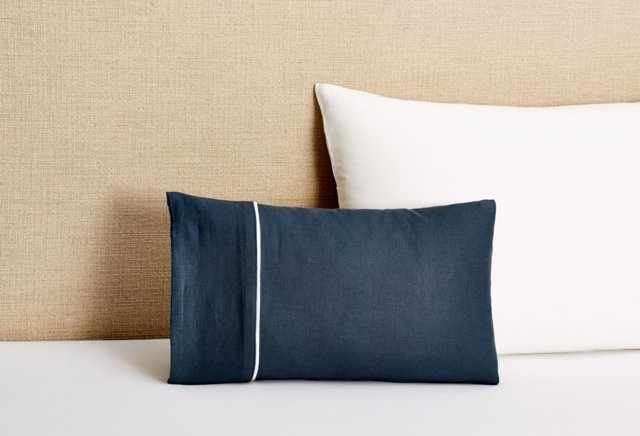 Lucia Accent Pillow with Insert, Navy