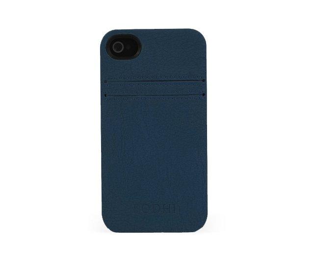 Vinyl iPhone Card Slot Case, Navy