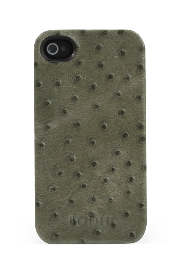 Embossed Ostrich iPhone Case, Green