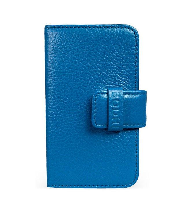 Leather iPhone Wallet, Cobalt