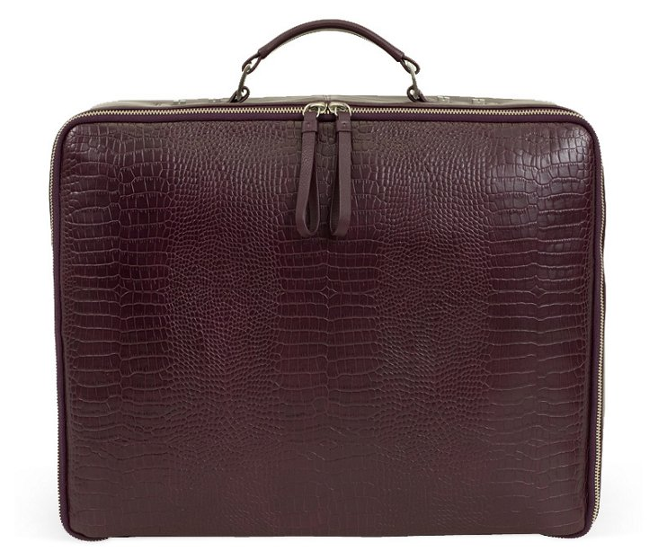Portable Office Briefcase, Deep Purple