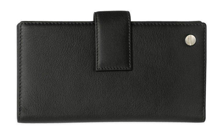 Large Classic Tri-Fold Wallet, Black