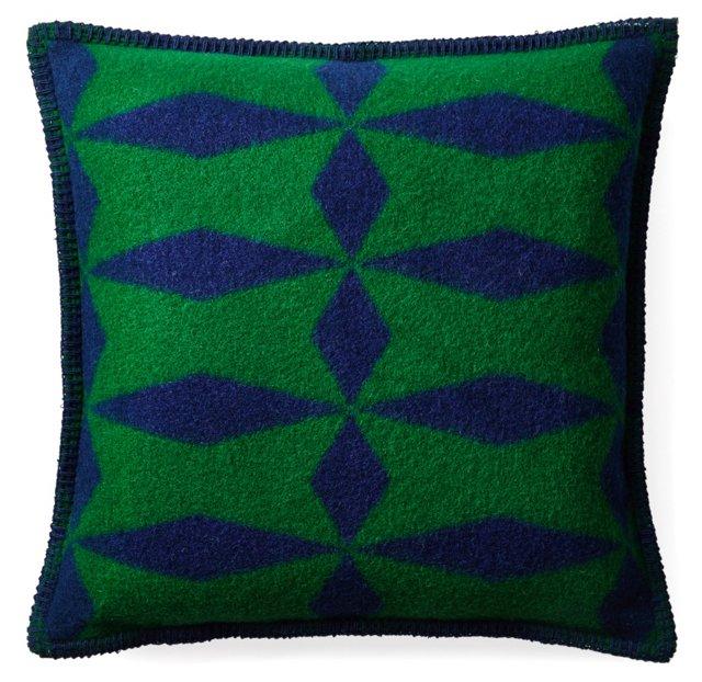 Optic Diamond 16x16 Pillow, Forest
