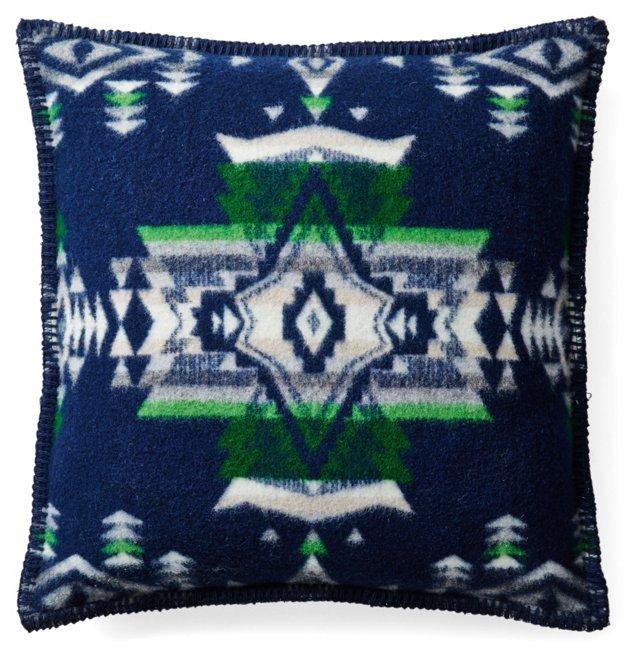 Heritage Woven 16x16 Pillow, Indigo