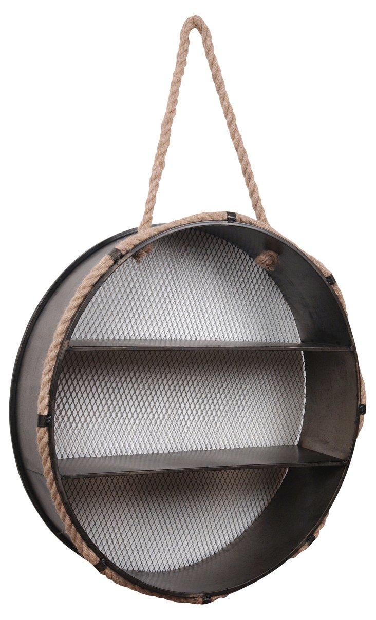Round Metal Wall Shelf
