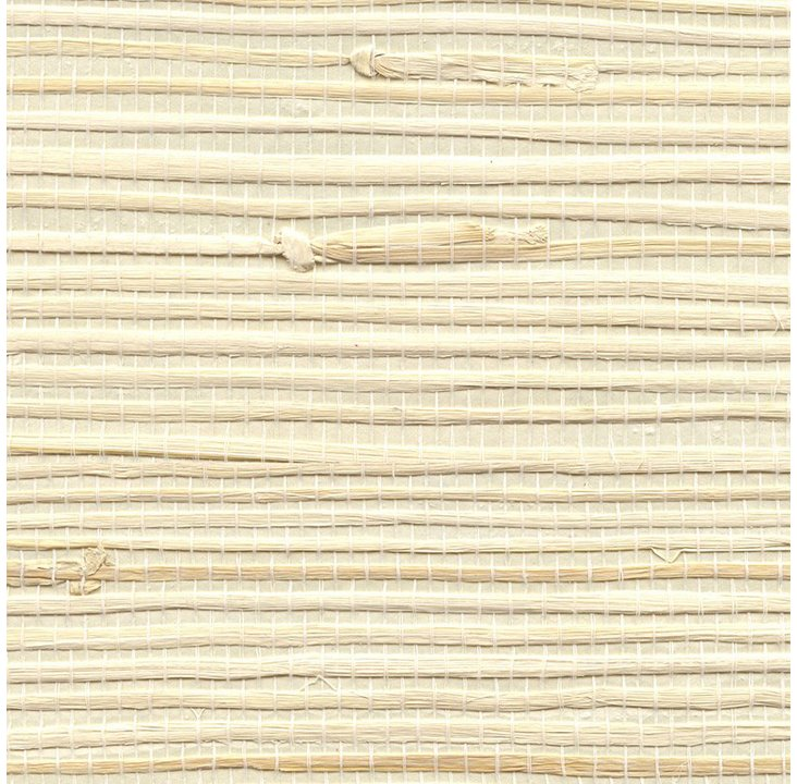 Jute Grasscloth, Biscuit Cream/Taupe