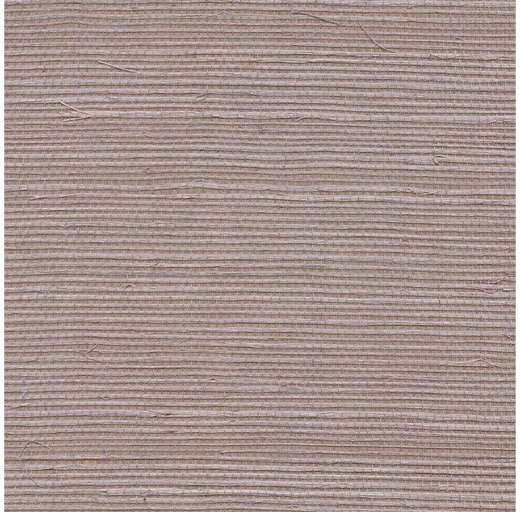 Sisal Grasscloth, Lilac Gray