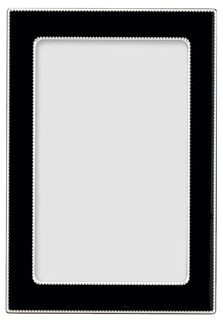 S/2 Black Enamel Frames, 8x10