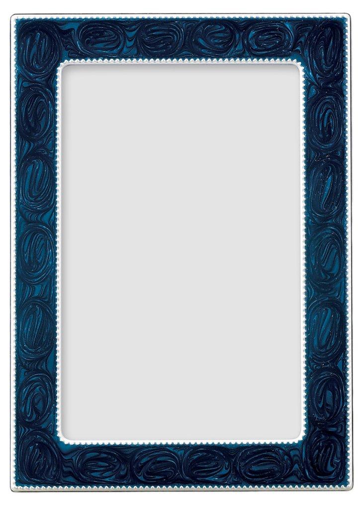 S/2 Swirled Navy Enamel Frames, 8x10