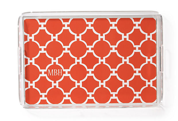 Orange Mod Lucite Tray