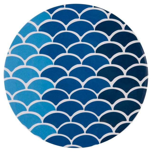 S/4 Melamine Fish Dinner Plates