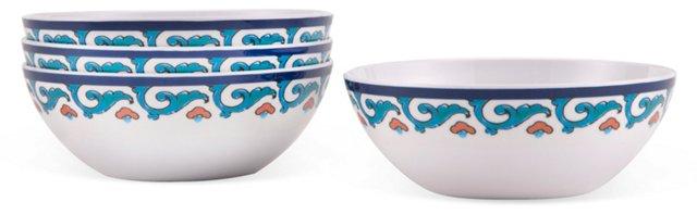 S/4 Melamine Tile Bowls