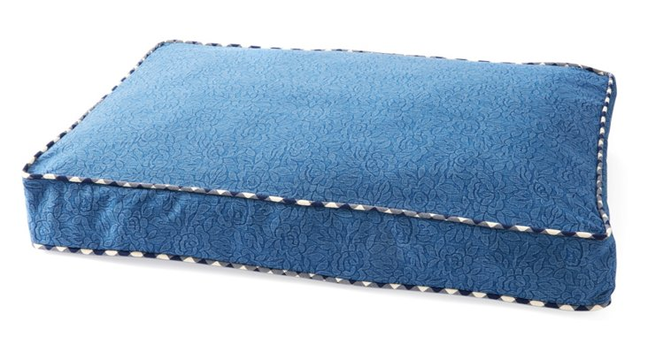 Reversible Embossed Pet Bed, Denim/Navy