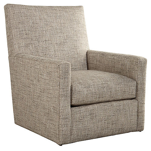 Carlyn Swivel Glider, Gray Tweed