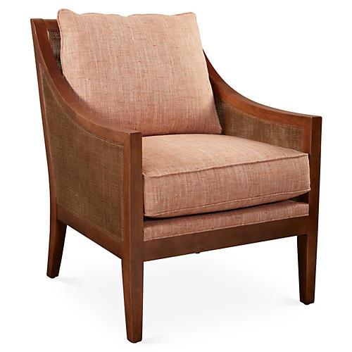 Nadia Chair, Terracotta Tweed